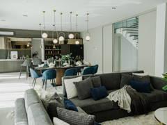 Minimalistic Rustic Dining Room Living Room@DLaman Bungalow