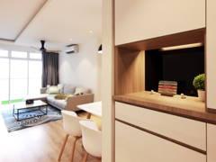 Minimalistic Modern Foyer@Dwiputra Residence