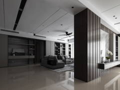 Contemporary Modern Foyer Living Room@The Dark Contour - Pavilion Hilltop