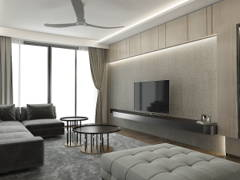 Contemporary Living Room@Home Sweet Home