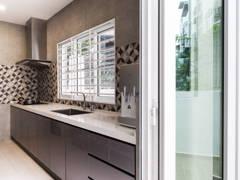 Modern Kitchen@Modern Contemporary Interior @ Canary Residence, K.L
