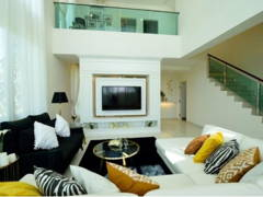 Contemporary Modern Living Room@Serene Residence Rawang RT1