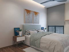 Modern Scandinavian Bedroom@The Andes Condo Villa