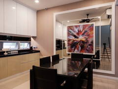 Contemporary Modern Dining Room Kitchen@Modern Contemporary Interior @ Canary Residence, K.L