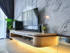 Contemporary Modern Living Room@Chic Luxury - Petalz Residences, Old Klang Road