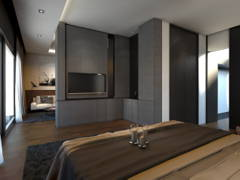 Contemporary Bedroom Foyer@Setia-residence , Bungalow at Sitiawan, Perak