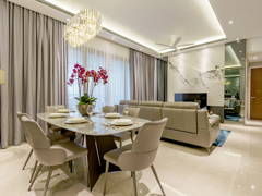 Contemporary Dining Room Living Room@Comtemporary Sleek Residence, The Astaka JB