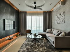 Contemporary Modern Living Room@Scenaria North Kiara