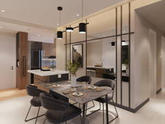 Modern Dining Room@United Point Residence