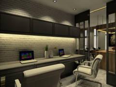 Contemporary Rustic Dining Room Study Room@Semi-D, Batu Ferringhi, Penang