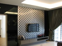 Contemporary Modern Living Room@Condominium 1889 Mont Kiara