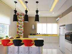 Retro Modern Dining Room Kitchen@Ipoh South Precinct Show Unit