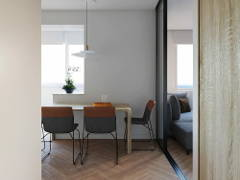 Contemporary Minimalistic Bedroom Dining Room@Studio, Petaling Jaya, Selangor.
