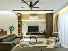 Asian Modern Living Room@Modern Contemporary 3 Storey Super Linked