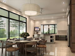 Classic Modern Dining Room Kitchen@Bungalow USJ