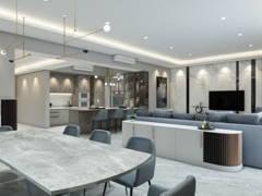 Contemporary Modern Dining Room Living Room@Modern Stylist Condominium @ Zehn Bukit Pantai Condo