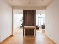 Asian Contemporary Foyer@Scandinavian Bungalow   When Simplicity Matters