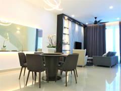 Modern Dining Room Living Room@Austin Residence, Mount Austin Johor Bahru