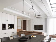 Minimalistic Modern Foyer Living Room@ABOVE THE REST - Double storey