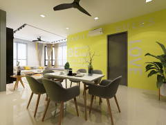Contemporary Modern Dining Room@KL GATEWAY RESIDENCE (BANGSAR SOUTH)