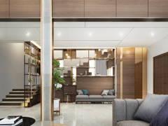 Contemporary Modern Foyer Living Room@T RESIDENCE AT KOTA KINABALU