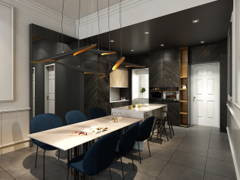 Classic Modern Dining Room Kitchen@O2 city Type D1 Showroom- Condo at Puchong South, Selangor
