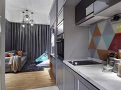 Contemporary Kitchen@Sentral Suites Corner D