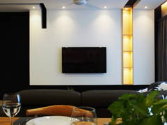 Minimalistic Scandinavian Living Room@J + S Residence