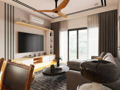 Modern Zen Living Room@CYBER HEIGHTS VILLA, CYBERJAYA