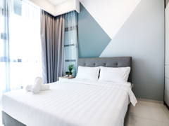 Minimalistic Scandinavian Bedroom@The Robertson @ Bukit Bintang