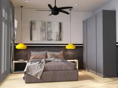 Contemporary Scandinavian Bedroom@COMFORT AIR BNB @ Arte Plus
