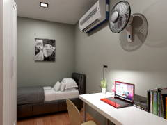 Contemporary Minimalistic Bedroom@Hostel@Subang Bestari