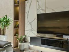 Asian Contemporary Living Room@Modern Contemporary 3 Storey Super Linked