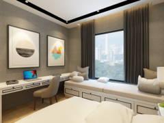 Contemporary Modern Bedroom@Double Storey House @ Bukit Prima