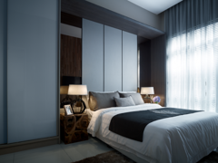 Contemporary Modern Bedroom@One Sentral Serviced Residences