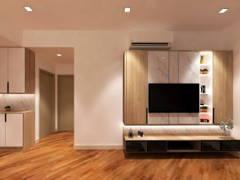 Contemporary Zen Living Room@PUTRA RESIDENCE, PUTRA HEIGHT