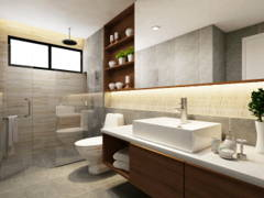 Contemporary Modern Bathroom@Semi-D, Sibu