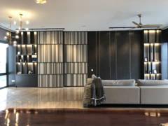 Contemporary Rustic Family Room Living Room@Serai Bangsar