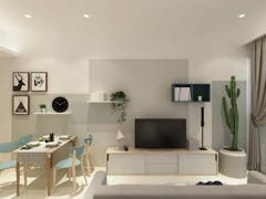 Minimalistic Modern Living Room@Palazio Serviced Apartment @ Johor Bahru