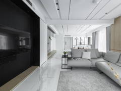 Minimalistic Zen Dining Room Living Room@The impact of white - Double Storey, Desa parkcity