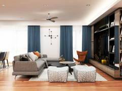 Modern Living Room@THE POTPOURRI, ARA DAMANSARA