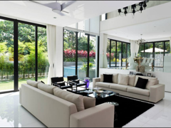 Contemporary Modern Living Room@L Residence