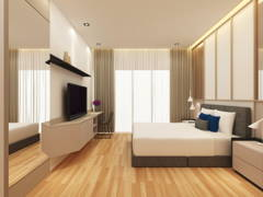 Contemporary Modern Bedroom@Project R22_Type D