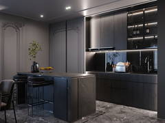 Classic Modern Dining Room Kitchen@ARIA Luxury Residence