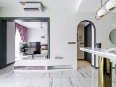 Modern Scandinavian Dining Room Living Room@GEOSENSE CONDOMINIUM- Sunway South Quay