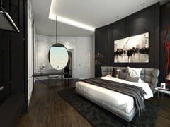 Classic Modern Bedroom Study Room@O2 city Type D1 Showroom- Condo at Puchong South, Selangor