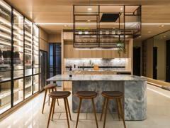 Asian Industrial Dining Room Living Room@Urban Luxury Sleek Contemporary