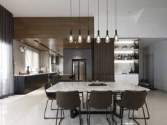 Contemporary Modern Dining Room Kitchen@D' Island Corallia