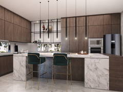 Contemporary Modern Kitchen@Dahlia Residence at Malacca