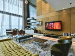 Modern Retro Living Room@Gold, Glam, Grandeur @ One Central Park